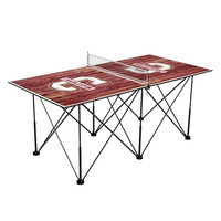 Charleston Cougars Pop Up Table Tennis 6ft Weathered Design