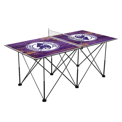 High Point HPU Panthers Pop Up Table Tennis 6ft Weathered Design