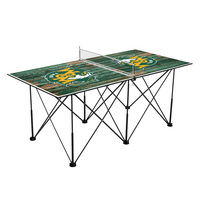 William & Mary Tribe Pop Up Table Tennis 6ft Weathered Design
