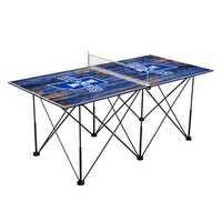Indiana State University Sycamores Pop Up Table Tennis 6ft Weathered Design