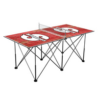 Cal State Stanislaus Warriors Pop Up Table Tennis 6ft Weathered Design