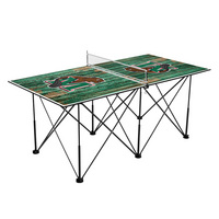 Minot State University Beavers Pop Up Table Tennis 6ft Weathered Design