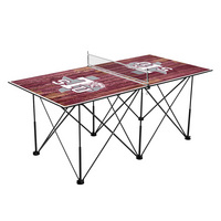 Texas Southern Tigers Pop Up Table Tennis 6ft Weathered Design