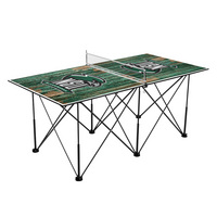 Northeastern State Riverhawks Pop Up Table Tennis 6ft Weathered Design