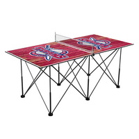 Detroit Mercy Titans Pop Up Table Tennis 6ft Weathered Design