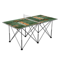 Florida A&M University Rattlers Pop Up Table Tennis 6ft Weathered Design