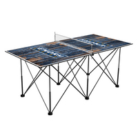 Emory University Eagles Pop Up Table Tennis 6ft Weathered Design