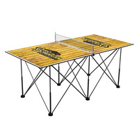 Ohio Dominican Panthers Pop Up Table Tennis 6ft Weathered Design