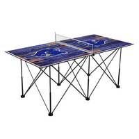 Southern Connecticut State University Owls Pop Up Table Tennis 6ft Weathered Design