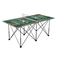 Loyola Maryland Greyhounds Pop Up Table Tennis 6ft Weathered Design