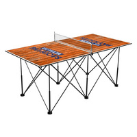Texas Tyler Patriots Pop Up Table Tennis 6ft Weathered Design
