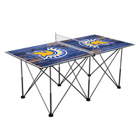 San Jose State University Spartans Pop Up Table Tennis 6ft Weathered Design