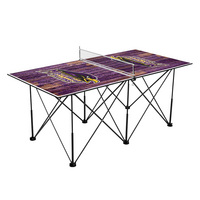 Montevallo Falcons Pop Up Table Tennis 6ft Weathered Design