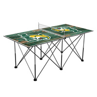 Northern Michigan Wildcats Pop Up Table Tennis 6ft Weathered Design