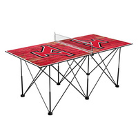 Youngstown State University Penguins Pop Up Table Tennis 6ft Weathered Design