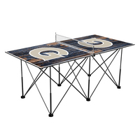 Georgetown Hoyas Pop Up Table Tennis 6ft Weathered Design
