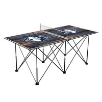 Connecticut UCONN Huskies Pop Up Table Tennis 6ft Weathered Design