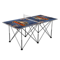 Morgan State University Bears Pop Up Table Tennis 6ft Weathered Design