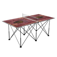 Montana Grizzlies Pop Up Table Tennis 6ft Weathered Design