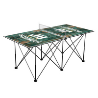 Jacksonville University Dolphins Pop Up Table Tennis 6ft Weathered Design