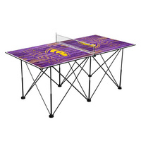 Wisconsin Stevens Point Pointers Pop Up Table Tennis 6ft Weathered Design