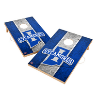 Vintage Indiana State University Sycamores VT  Solid Wood 2x3 Cornhole