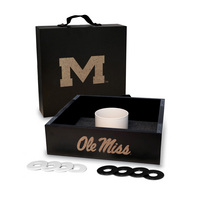 Mississippi Ole Miss Rebels Washer Game Set Onyx Stained