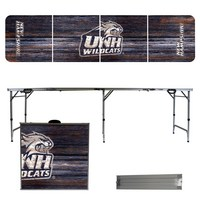 New Hampshire Wildcats 8 Foot Portable Folding Tailgate Table Weathered Version