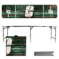 North Carolina At Charlotte 49ers 8 Foot Portable Folding Tailgate Table Weathered Version