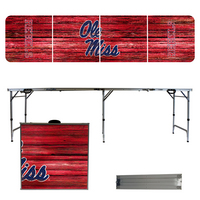 University of Mississippi Weathered 8 Foot Folding Tailgate Table