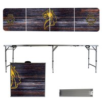 Central Oklahoma Bronchos 8 Foot Portable Folding Tailgate Table Weathered Version
