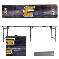 Tennessee Chattanooga University Mocs 8 Foot Portable Folding Tailgate Table Weathered Version