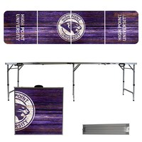 High Point HPU Panthers Weathered Design 8 Foot Portable Folding Tailgate Table