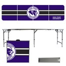 High Point HPU Panthers Stripe Design 8 Foot Portable Folding Tailgate Table