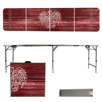 Chicago Maroons University of  8 Foot Portable Folding Tailgate Table Weathered Version
