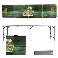 Norfolk State University 8 Foot Portable Folding Tailgate Table Weathered Version