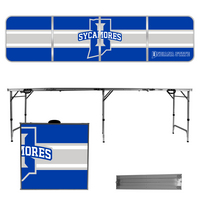 Indiana State University Sycamores 8 Foot Portable Folding Tailgate Table Stripe Version