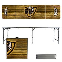 Virginia Commonwealth University Rams VCU 8 Foot Portable Folding Tailgate Table Weathered Version