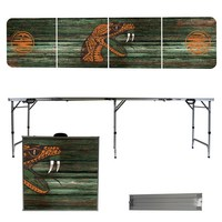 Florida A&M University Rattlers 8 Foot Portable Folding Tailgate Table Weathered Version