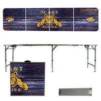 North Carolina A&T State University Aggies 8 Foot Portable Folding Tailgate Table Weathered Version