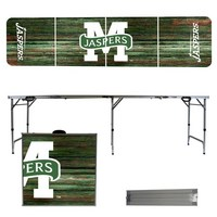 Manhattan College Jaspers 8 Foot Portable Folding Tailgate Table Weathered Version