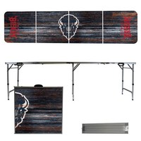 Howard University Bison 8 Foot Portable Folding Tailgate Table Weathered Version
