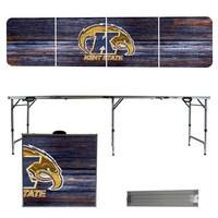 Kent State Golden Flashes 8 Foot Portable Folding Tailgate Table Weathered Version