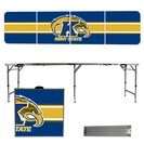 Kent State Golden Flashes 8 Foot Portable Folding Tailgate Table Stripe Version