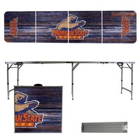 Morgan State University Bears 8 Foot Portable Folding Tailgate Table Weathered Version