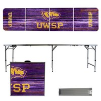 Wisconsin Stevens Point Pointers 8 Foot Portable Folding Tailgate Table Weathered Version