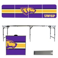 Wisconsin Stevens Point Pointers 8 Foot Portable Folding Tailgate Table Stripe Version