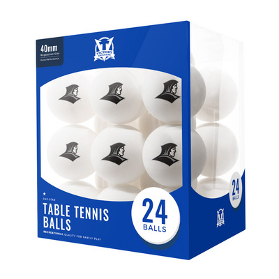 Providence College Friars 24 Count Table Tennis Balls Logo Design
