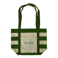 Striped Accent Tote