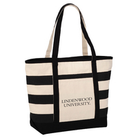 Striped Accent Boat Tote